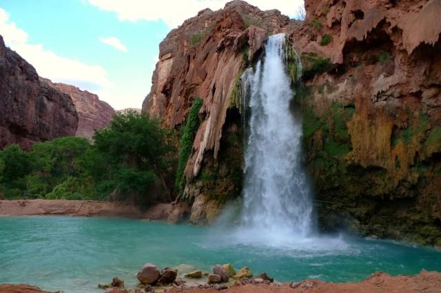 Havasu Falls, Havasupai Reservation, Grand Canyon National Park, Arizona, USA