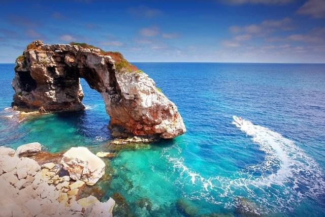 Rock Es Pontas, Cala Santanyi, Mallorca, Spain