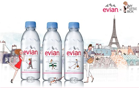 evian × My Little Box のコラボ