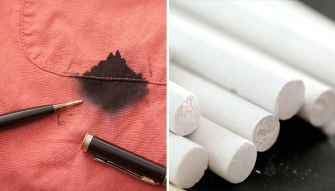 Cleaning hacks Chalk has superb absorbing qualities