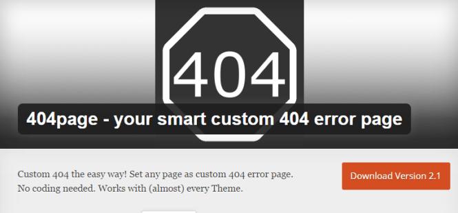 404 pages wordpress plugin