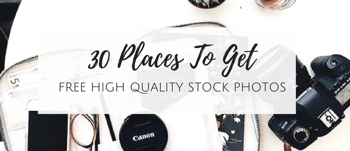 30 places to get free stock photos
