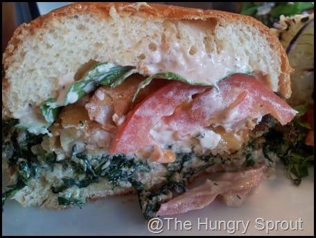 Spinach Crunch Burger That One Spot