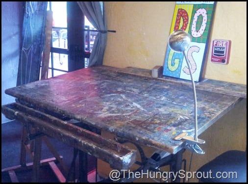 Cafe Tu Tu Tango art table