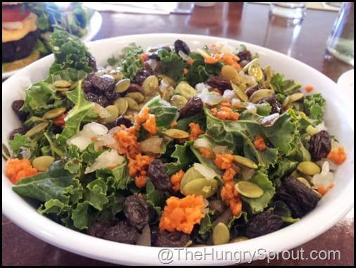 Kale Salad The Vegan Cafe