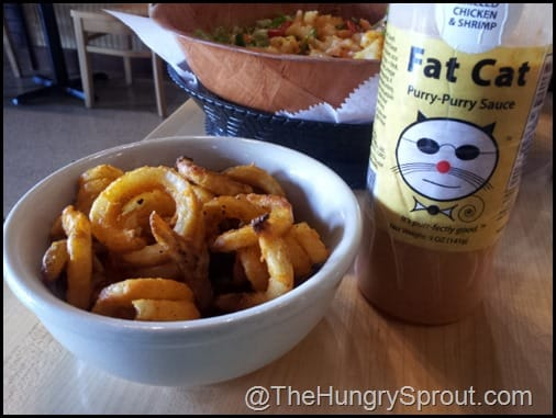Spicy Curly Fries with Purry Purry Sauce