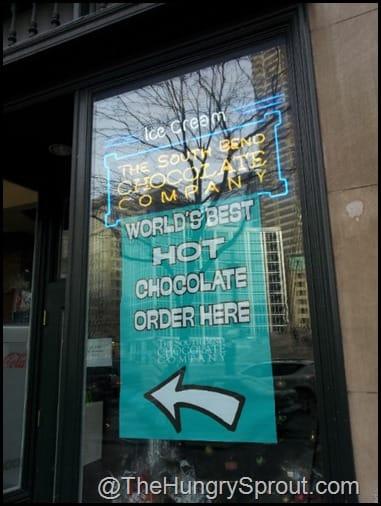 Chocolate Cafe Hot Chocolate sign