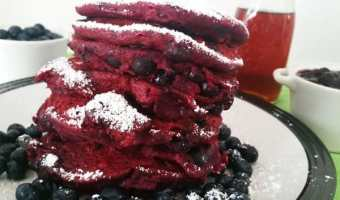 Blueberry Beet Pancakes