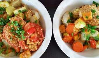 The Easiest Roasted Tomato Vegetable Casserole