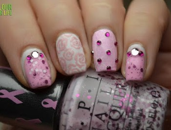 breast cancer manicure