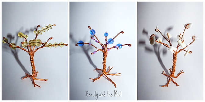 wire trees with beads
