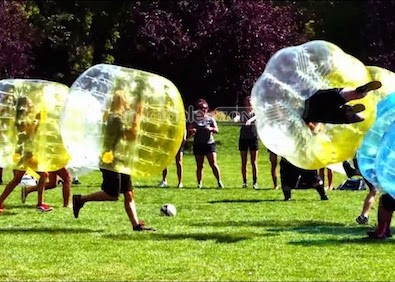 New Athletic Trend: Bubble Soccer
