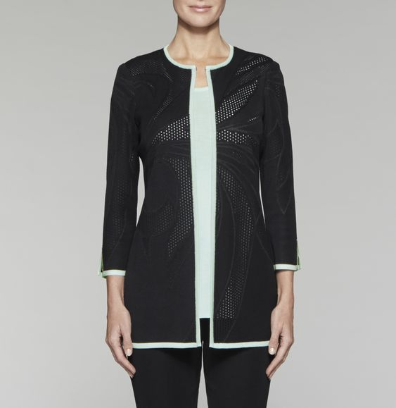 Pointelle Swirl Jacket