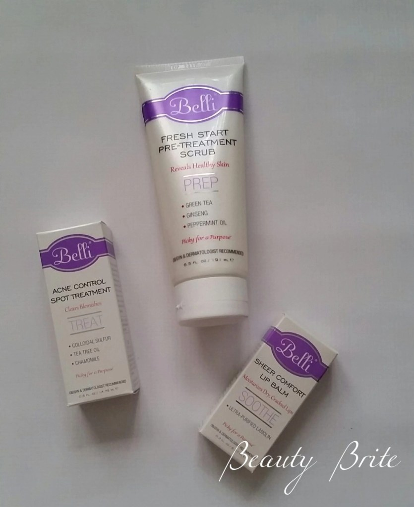 Sheer Comfort Lip Balm, Fresh Start Pre-Treatment Scrub, Acne Control Spot Treatment beautybrite