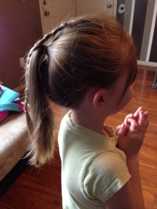 Simple Braided Pony -- Side View