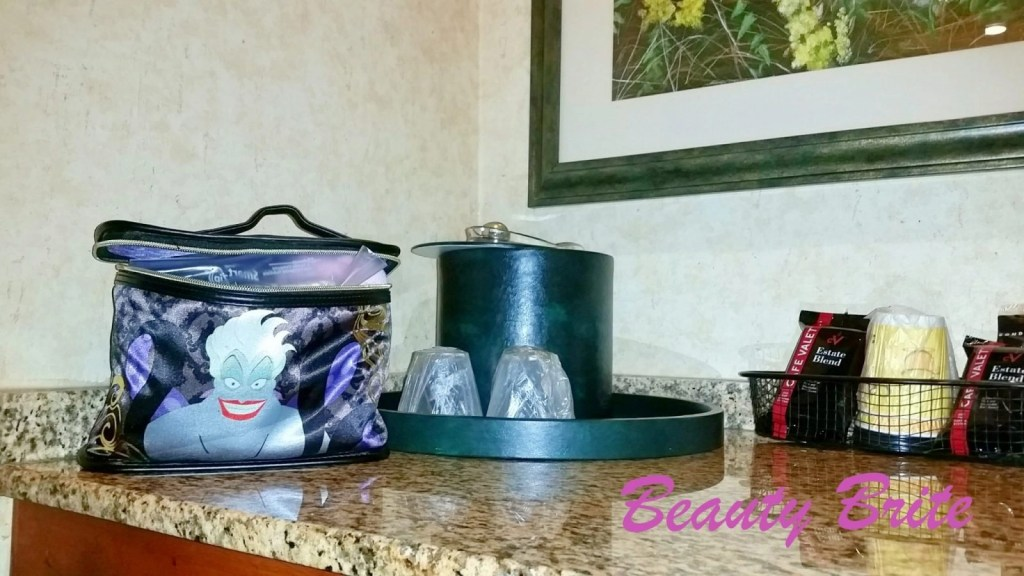 Disney Villains cosmetic bags at hotel
