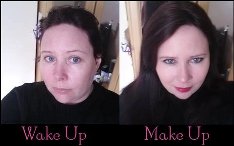 Younique makeup before/after