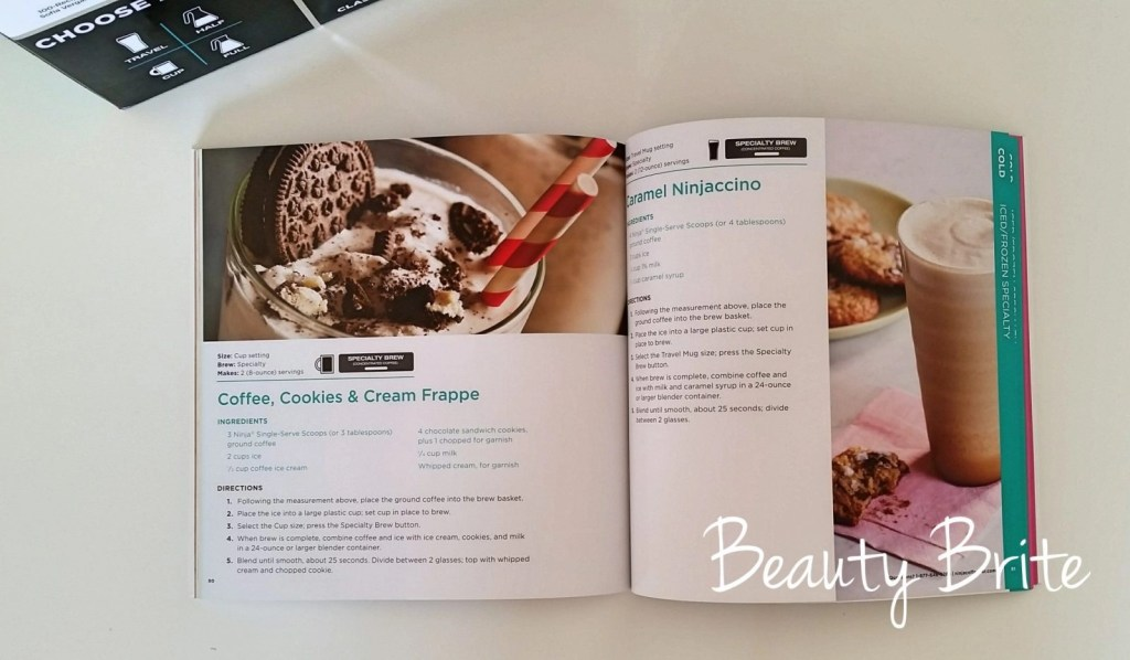 Ninja Coffee Bar recipe book