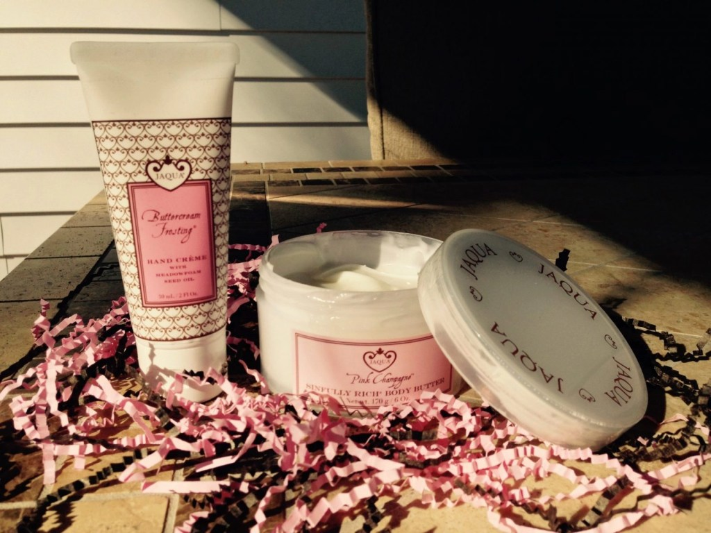 Jaqua Buttercream Frosting® Hand Crème and Jaqua Pink Champagne™ Sinfully Rich® Body Butter