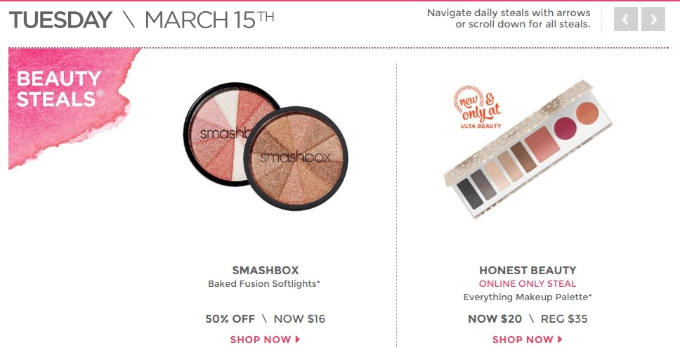 ULTA 21 DOB Tuesday March 15