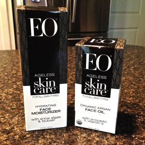 EO Ageless Skincare-products in packaging