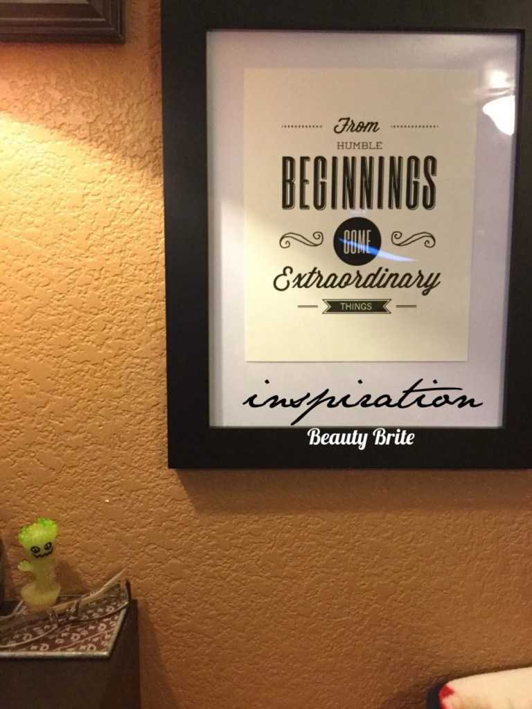 Humble Beginnings Motivational Poster from Craft Street Design