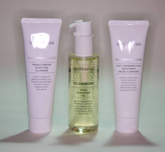 bareMinerals Cleansers and Cleansing Oil Review