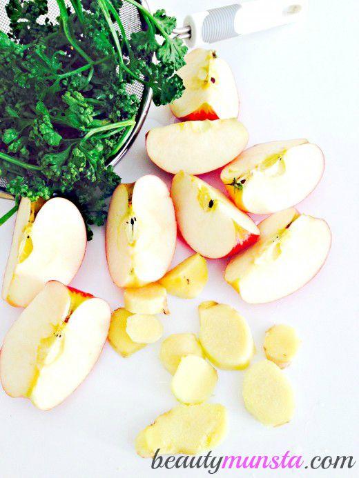 how to make green apple juice using blender
