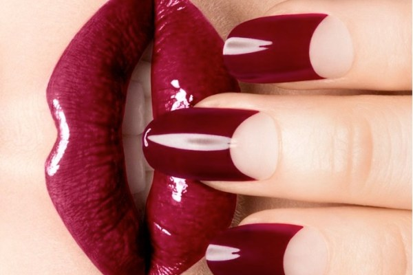 Dark-Red-Tip-sophy-robson-nail-art