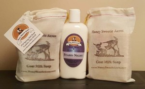 Honey Sweetie Acres soap and lotion