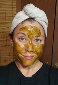 DIY Coconut Matcha Mask 4