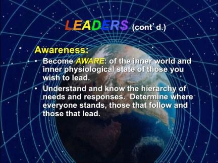 Leaders - Awareness