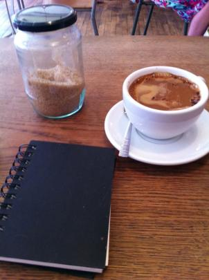 Strong coffee and sketch pad - the two essential ingredients for an arty farty image
