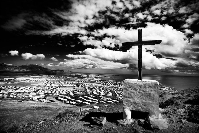Lonely Cross in Black and White
