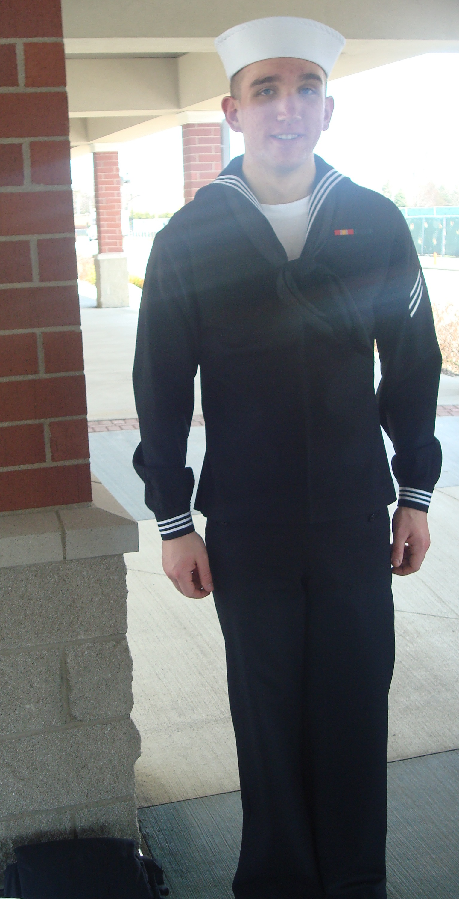 Thrifty We Went Back To Hotel To Wait N This One Was His Call To Come Pick Him Up Whichtook Too Bad When He Called He Had No Idea Where He If Navy Graduation Is Measured wedding dress Navy Dress Blues