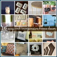 16 Easy and Inexpensive Home Decor Ideas