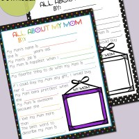All About Mom - A Mothers Day Printable