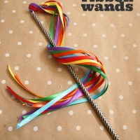 DIY Ribbon Wands in 5 Minutes!
