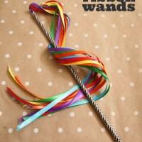 DIY Ribbon Wands in 5 Minutes!
