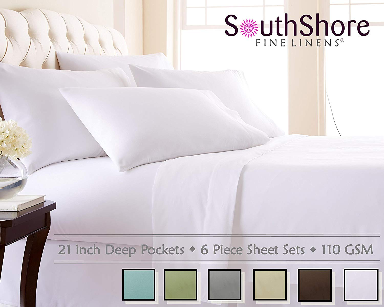 Contemporary Image Southshore Fine Linens Gsm Microfiber Sheet Set Threadcount Sheets Thread Count Sheets Picks Cons 2018 Pros Polyester Microfiber Sheets Brushed Microfiber Sheets Pros Cons houzz-03 Microfiber Sheets Pros And Cons