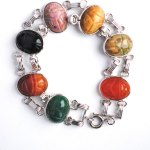 Sterling silver colorful Scarob Bracelet Large