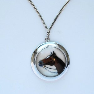 sterling silver #chinesenewyear #horsependant #vintagejewelry