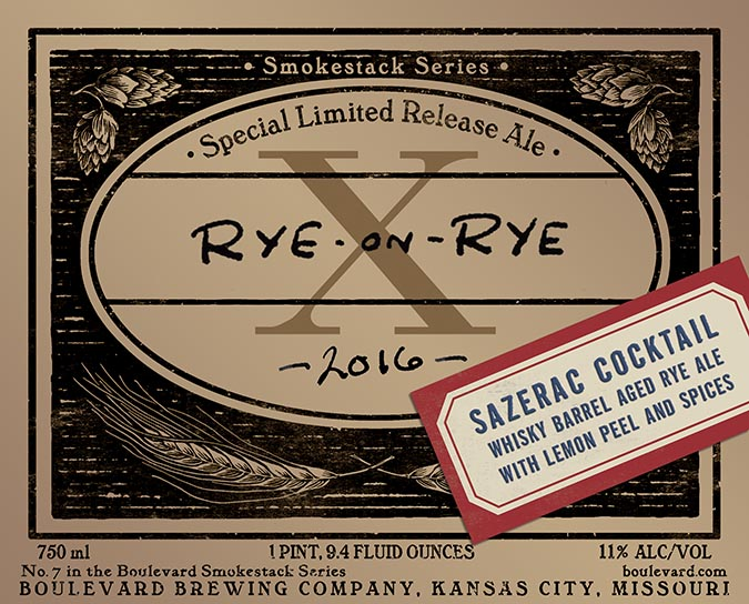 Boulevard Rye on Rye Sazerac Cocktail