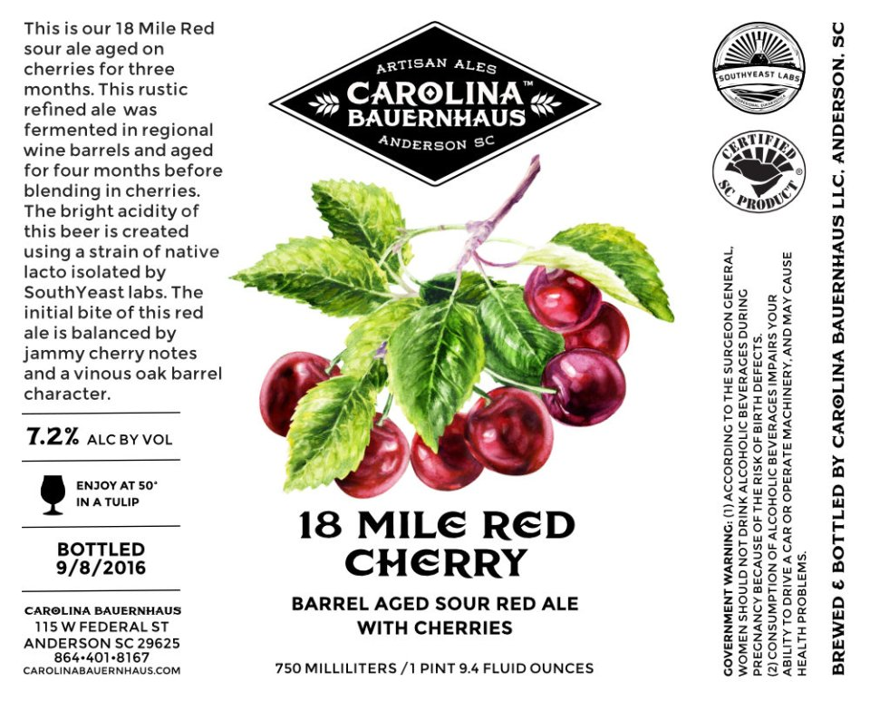 Carolina Bauernhaus 18 Mile Red Cherry