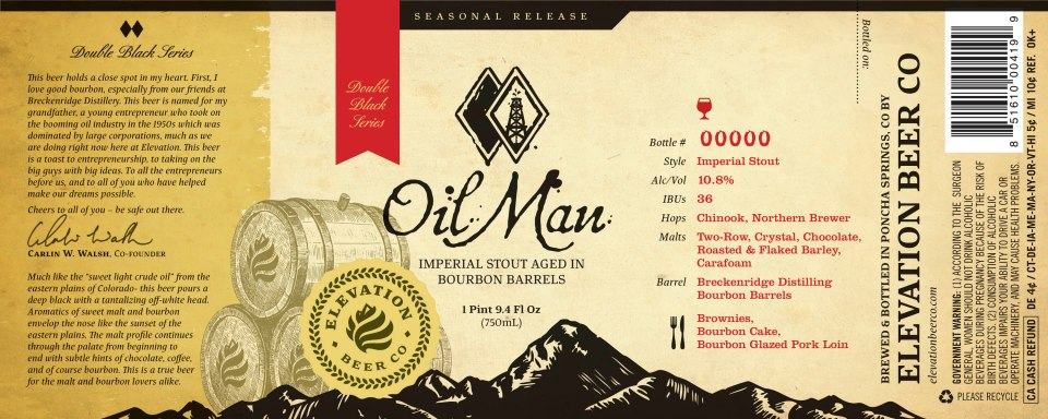Elevation Beer Co OilMan