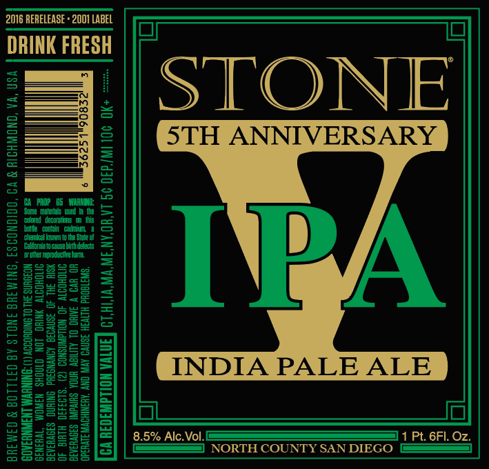 stone 5th anniversary ipa beer street journal With 5th wedding anniversary stone