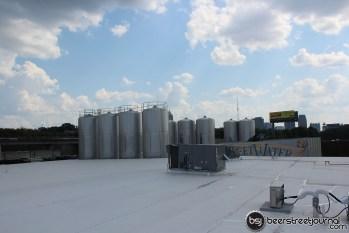 1000 Barrel Fermenters Poke Through the Roof
