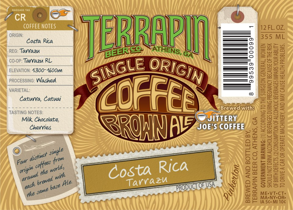 Terrapin Single Origin Coffee Brown Costa Rica