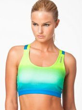 reebok bra sport bh geel blauw dye - nlysport collectie - workout gear - trendy sportkleding - be fit and fashionable