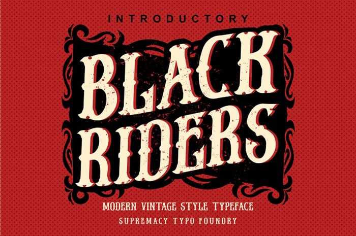 Black Riders Font Download
